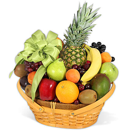 Classic All Fruit Basket:House Warming Gifts to USA