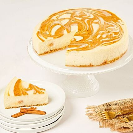 Classic Pumpkin Cheesecake:Send Cakes to USA
