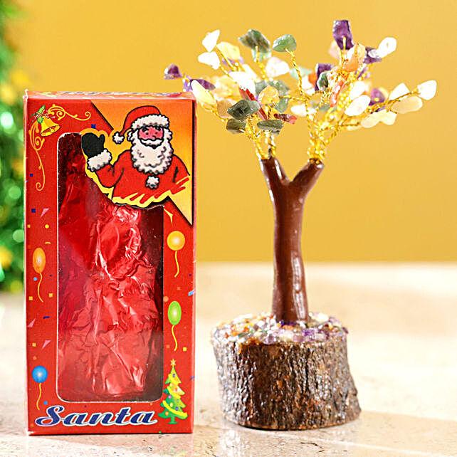 Colourful Stone Wish Tree & Choco Swiss Santa