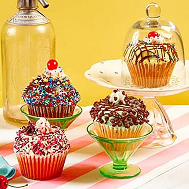 CRUMBS Signature Ice Cream Sundae Cupcakes