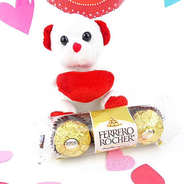 Cute Teddy N Chocolates