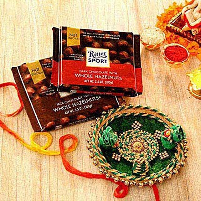 Decorative Tikka Thali and Assorted Chocolates