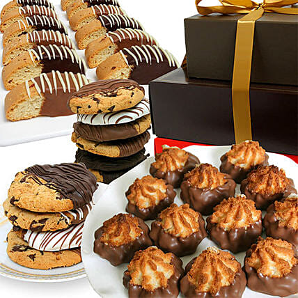 Delectable Cookies Dipped In Belgium Chocolate