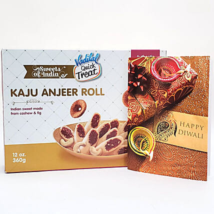 Delicious Kaju Anjeer Rolls Diwali Gift:Send Sweets to USA