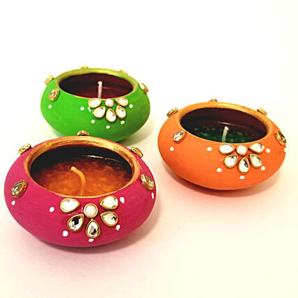 Designer Diya Set for Diwali