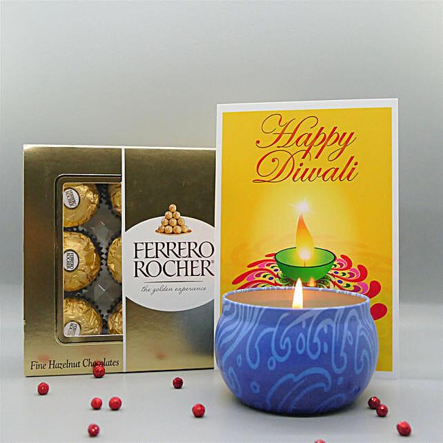 Diyas With Rocher For Diwali