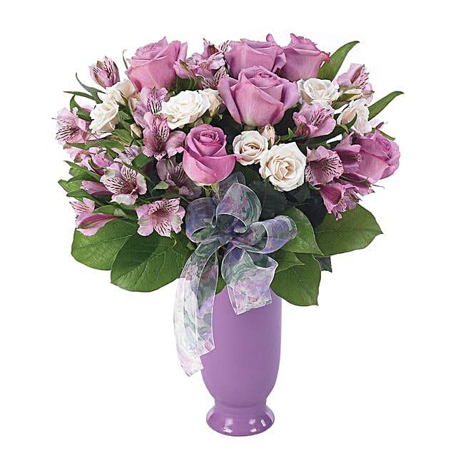 Enticing Assorted Flowers Jar Arrangement