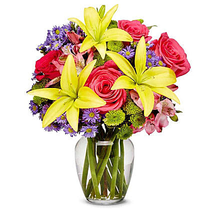 Enticing Mixed Flowers Bunch