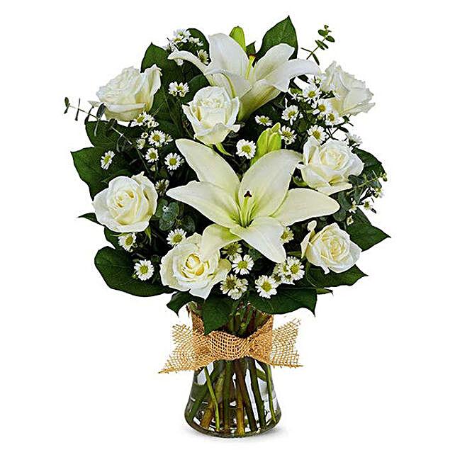 Eternal Love Mixed Flowers Vase Arrangement