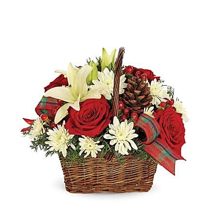 Exotic Rustic Christmas Basket