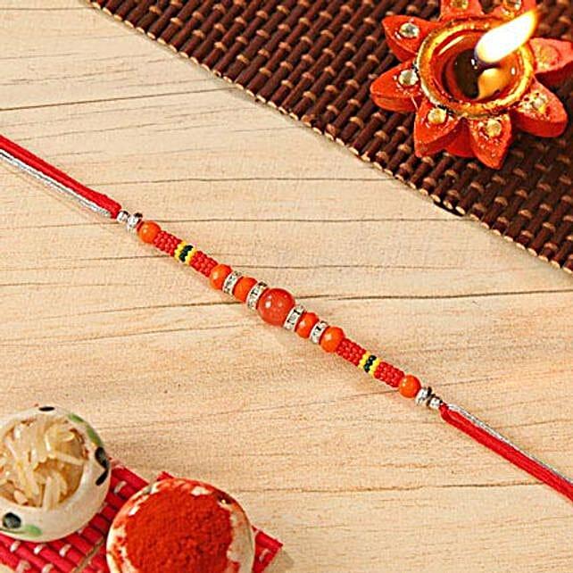 Exquisite Beaded Rakhi