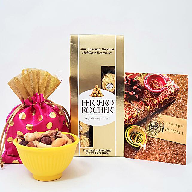 Ferrero Rocher And Mixed Nuts Diwali Combo
