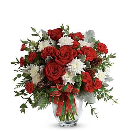 Festive Christmas Holiday Bouquet