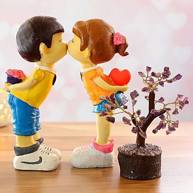 Figurine With Amethyst Wish Tree