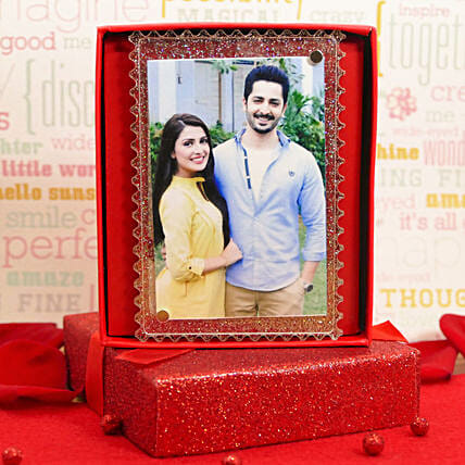 Fridge Magnet Photo Frame With Gift Message:Valentines Day Gifts For Him in USA