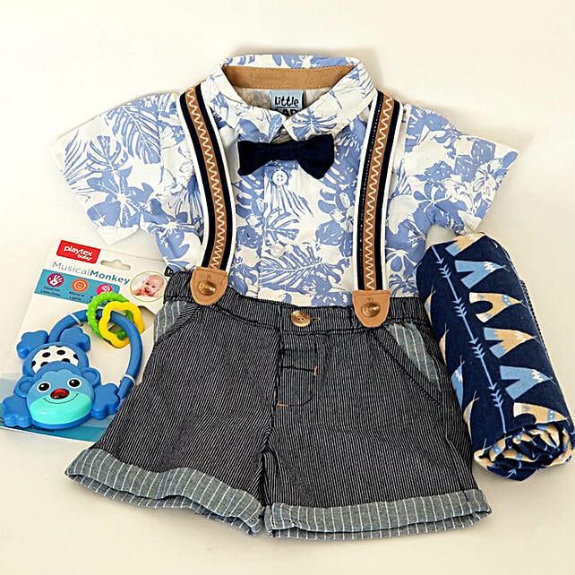Funky Baby Boy Gift Set:Newborn Baby Gifts to USA