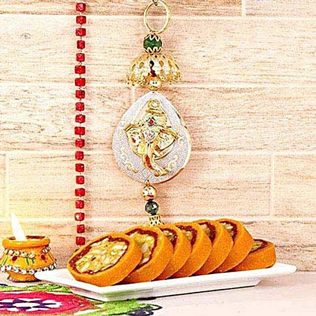 Ganesha Wall Hanging N Dryfruit Orange Cassata Roll