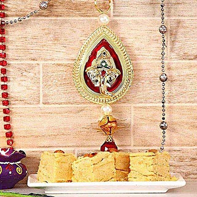 Ganesha Wall Hanging With Soan Papdi