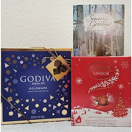 Godiva N Lindor Chocolate Gift Set