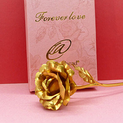 Gold Foil Rose With A Message