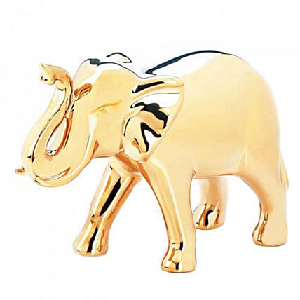 Golden Elephant Decorative Figure