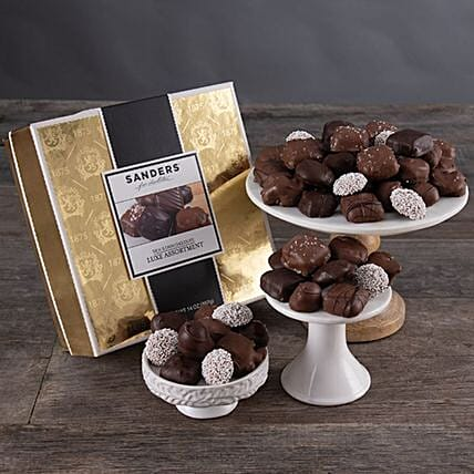 Gourmet Hand Dipped Artisan Chocolate Box:Send Corporate Gifts to USA