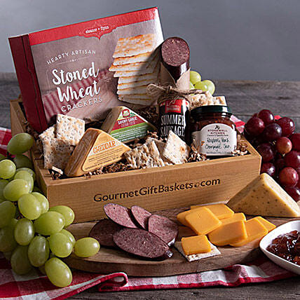 Gourmet Meat And Cheese Hamper:Hampers USA