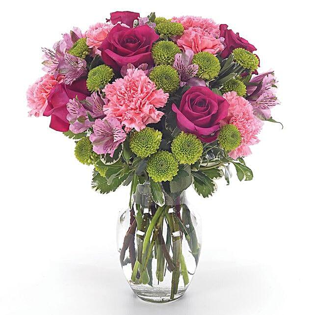 Graceful Assorted Flowers Vase Arrangement