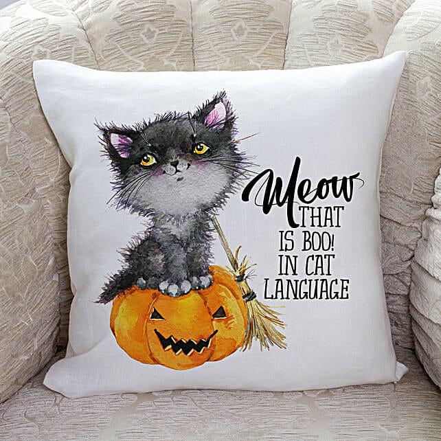 Halloween Meow Cushion:Send Halloween Gift Basket to USA