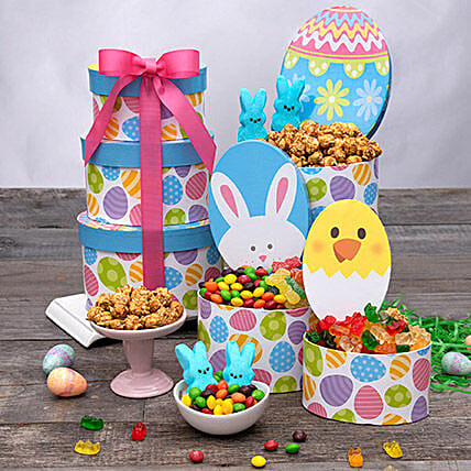 Happy Easter Gift Tower:Easter Gifts  USA