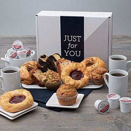 Happy Fathers Day Tea Bread And Muffin Hamper:Gifts for Father in USA