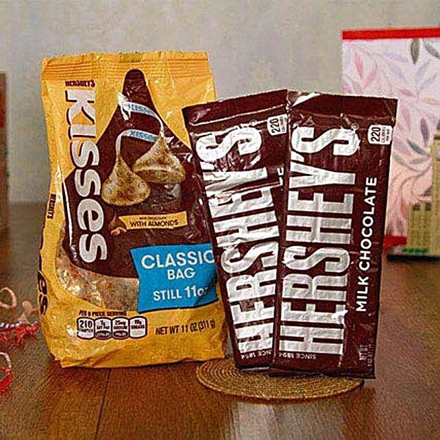 Hersheys Kisses N Milk Chocolate Bars