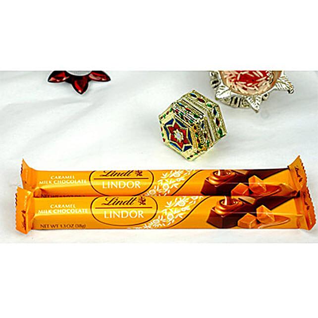 Lindt Lindor Caramel Milk Chocolate N Bhaidooj Tikka