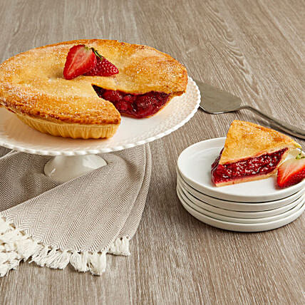 Lip Smacking Strawberry Pie And Greeting Card