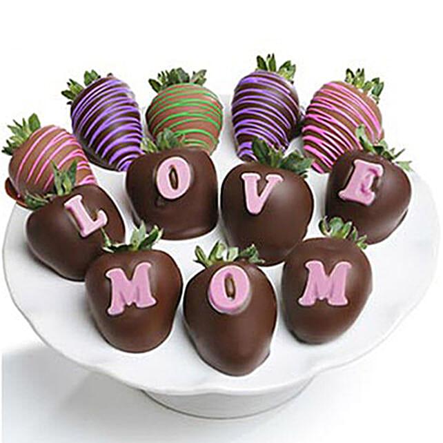 Love Mom Chocolate Covered Strawberries