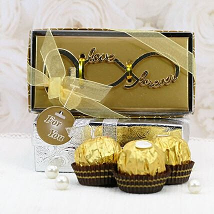 Love Ornament And Chocolates:Premium Gifts Delivery in USA