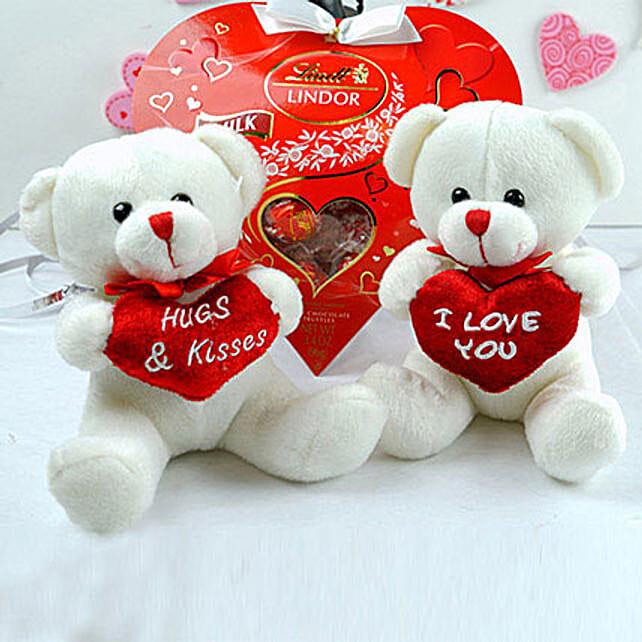 Love Teddies N Chocolates Combo