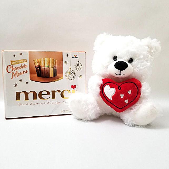 Luxurious European Chocolates N Teddy Bear