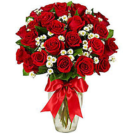 Luxury Two Dozen Red Roses Bouquet:Rose Day Gift Delivery in USA