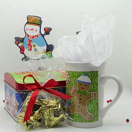 Merry Christmas Gift Box:Personalised Mugs USA