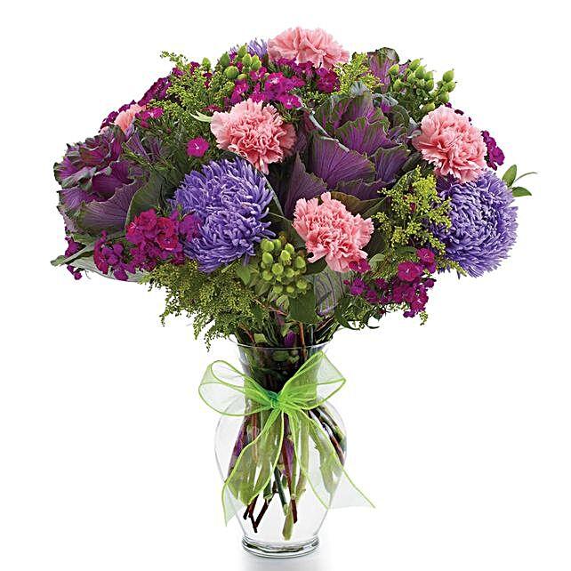 Mesmerising Assorted Flowers Vase Arrangement