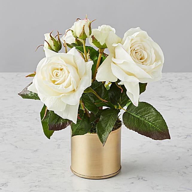 Mothers Day Elegant Faux Flowers Audrey Arrangement