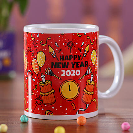 Printed Mug Online For New Year Wishes