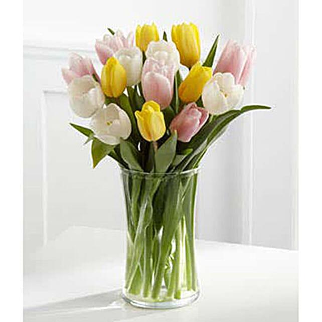 Pastel Tulips Vase