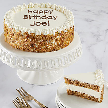 Personalised Carrot Cream Cake