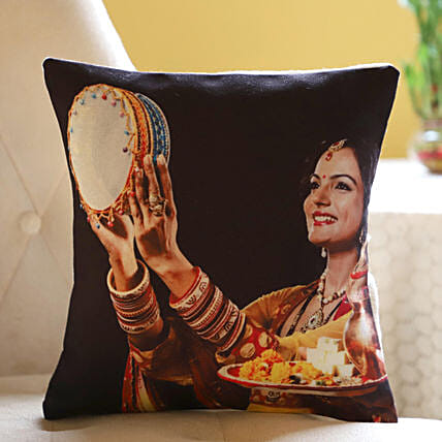 Photo Cushion For Karwa Chauth Online