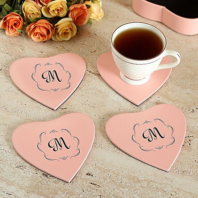 Personalised Cute Love Coaster Set of 4