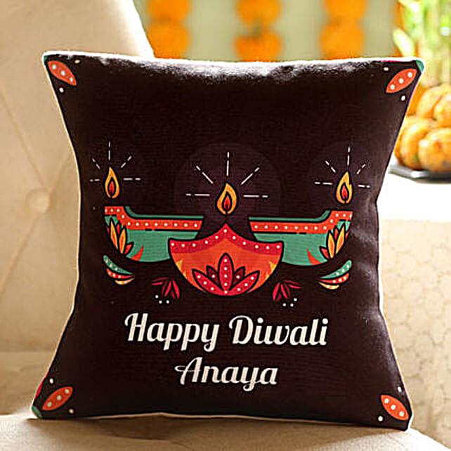 Customise Diwali Diya Cushion