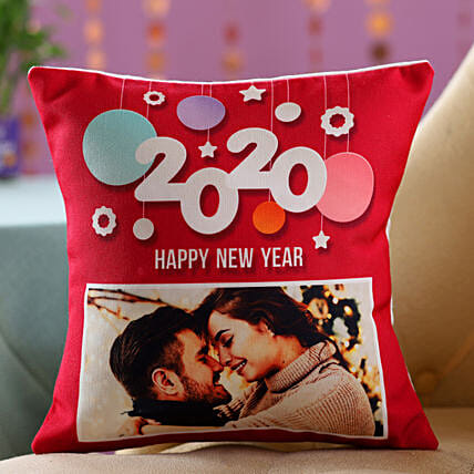 New Year Photo Cushion For Couples