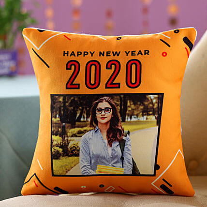 New Year Photo Cushion For Her